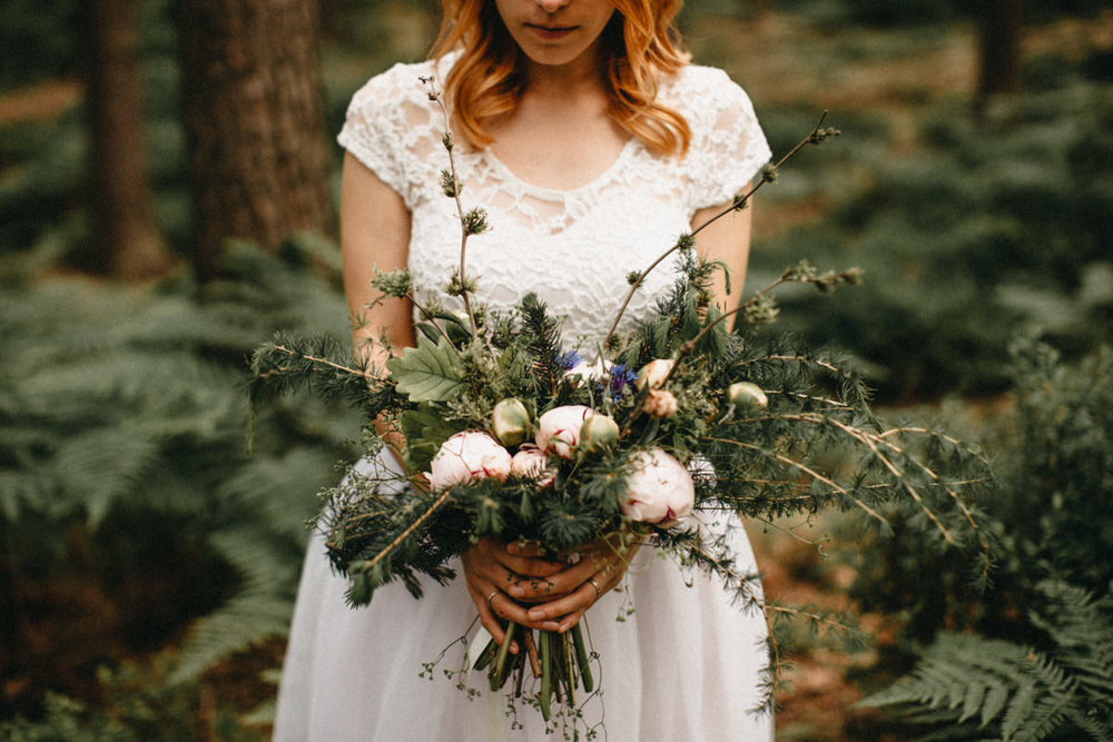 forest wedding bouquet inspiration