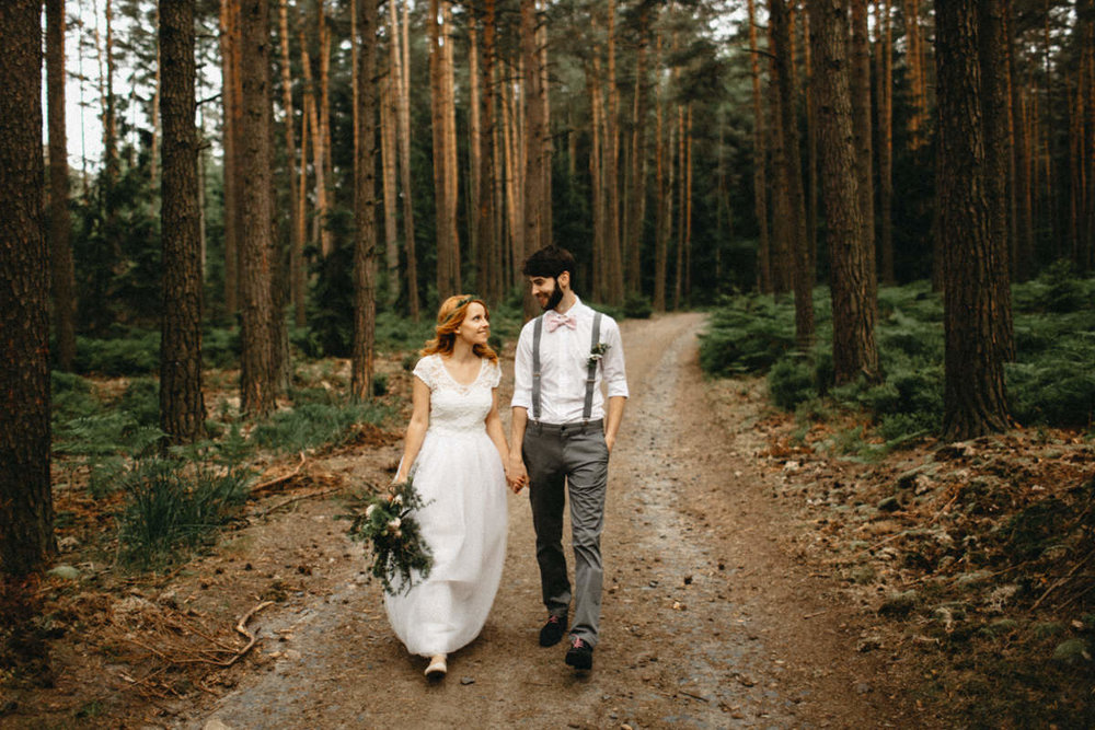 ginger bride and bearded groom