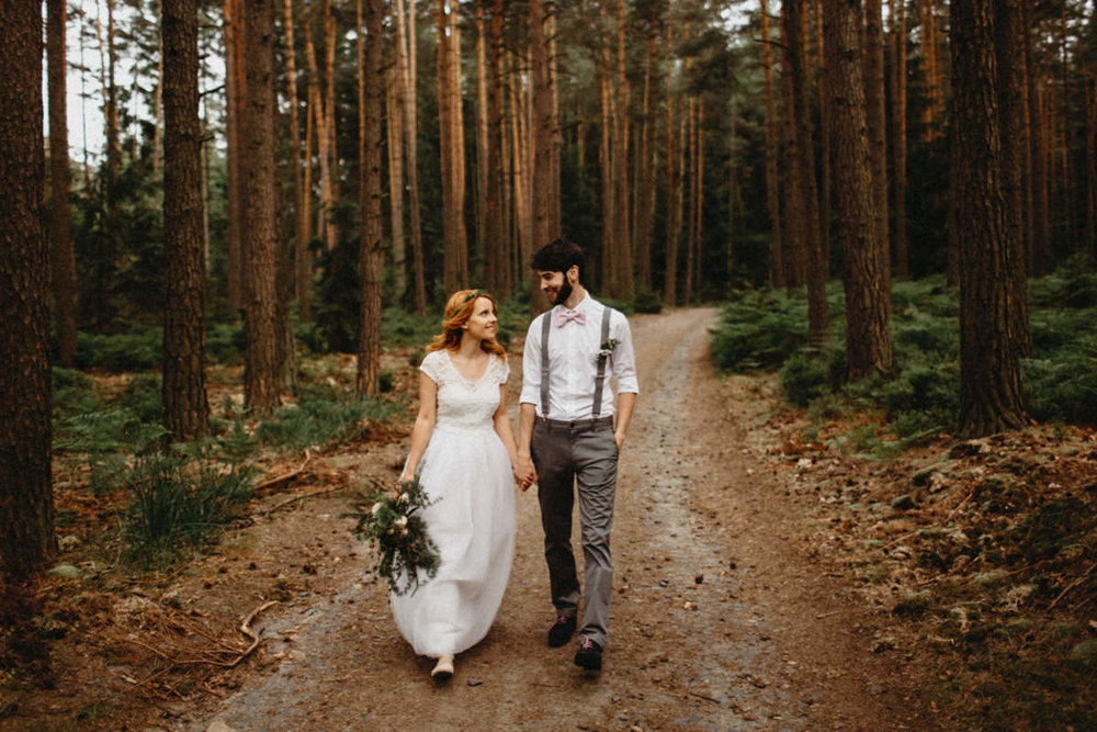 forest wedding after preset