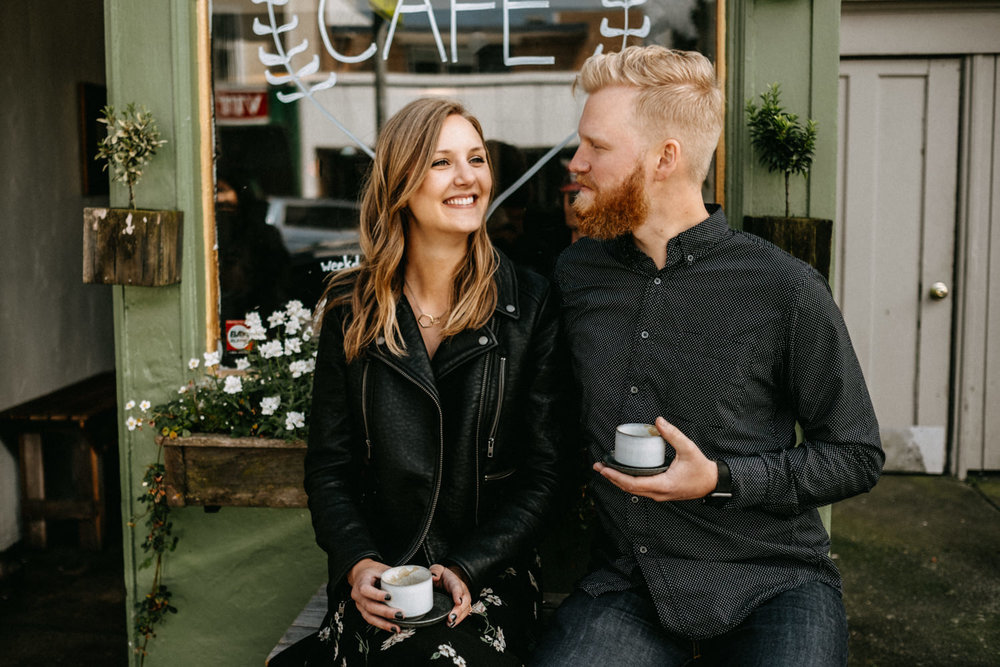 couple having coffee in San Francisco