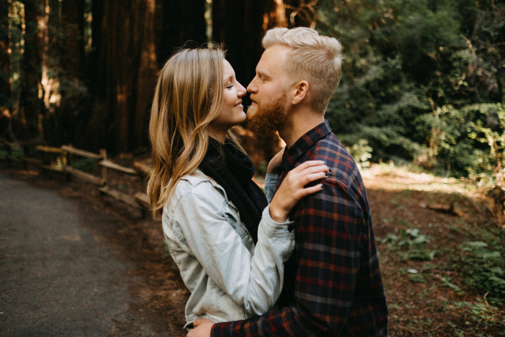 hipster couple kissing
