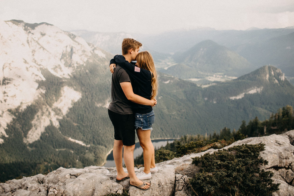 mountains engagement shoot