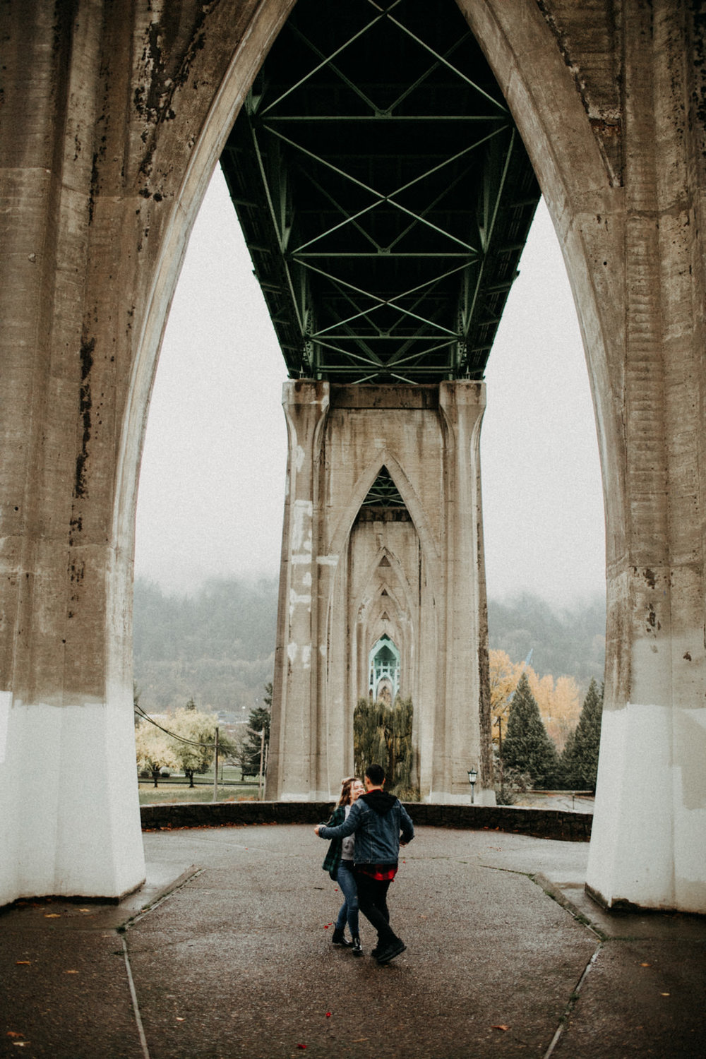 st johns bridge engagement photo