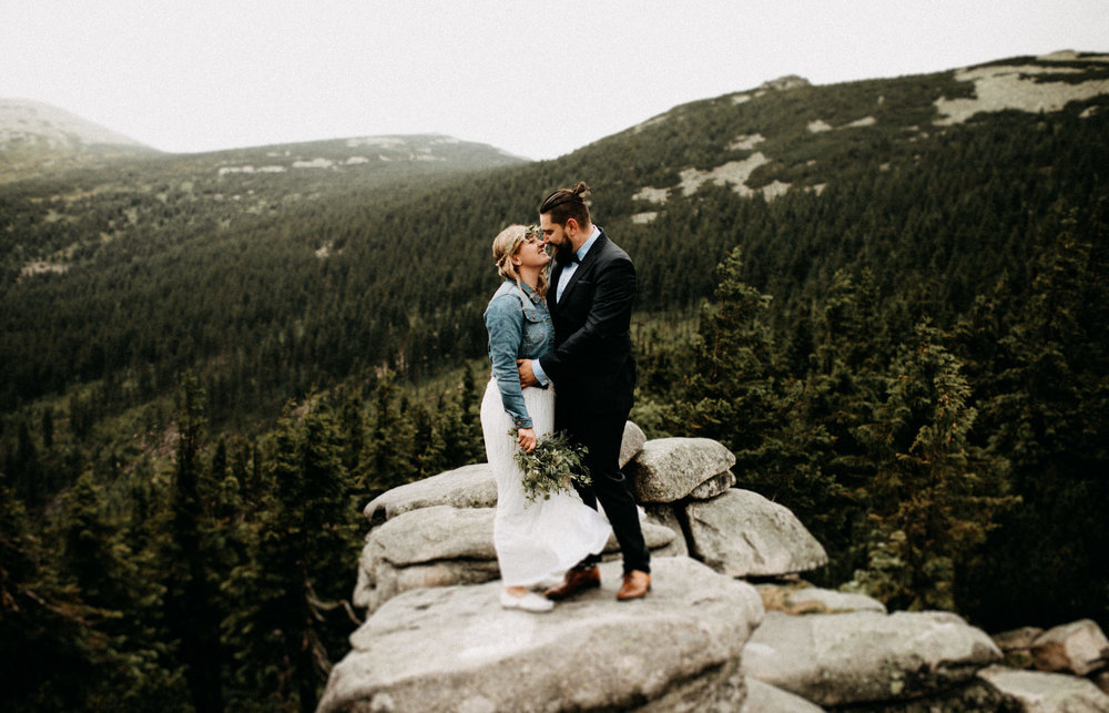 epic mountain wedding