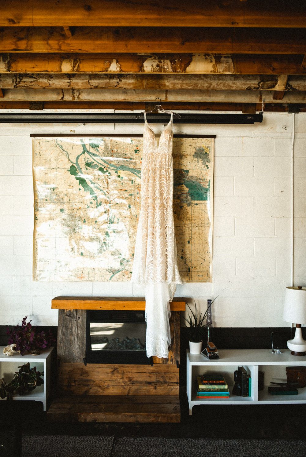 hipster wedding dress in union pine