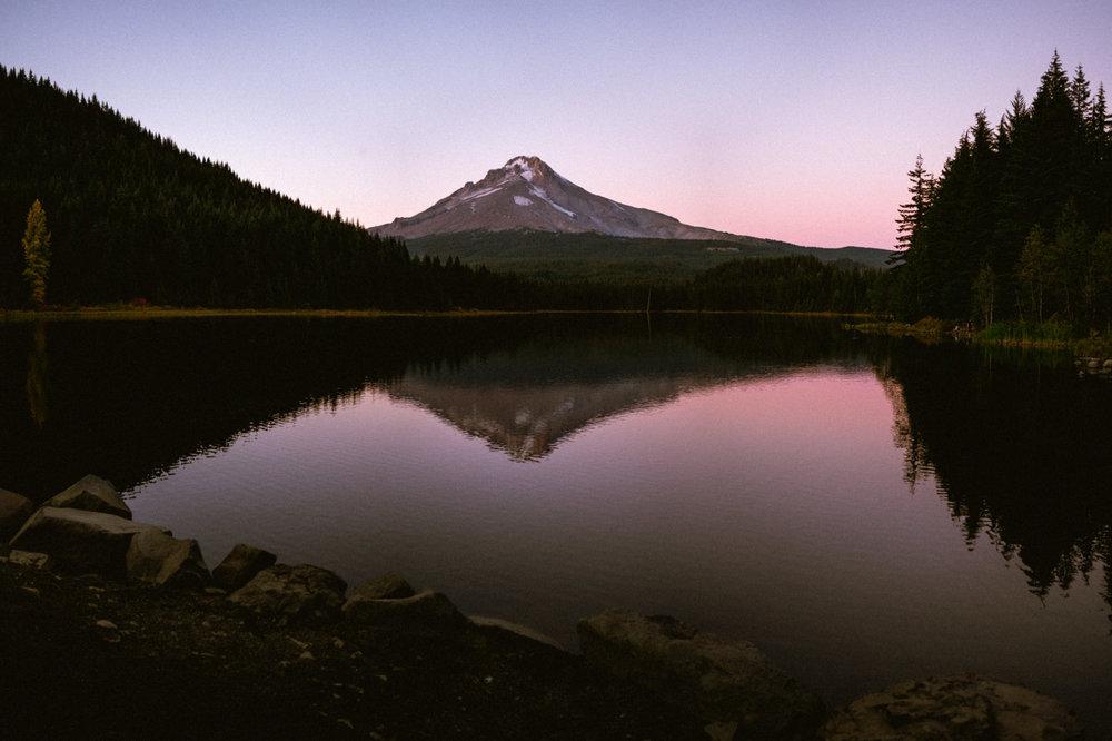 sunset trillium lake wallpaper