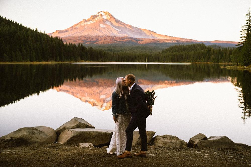 trillium lake wedding