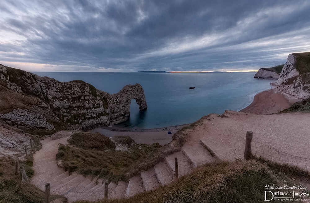 Dusk over Durdle Door