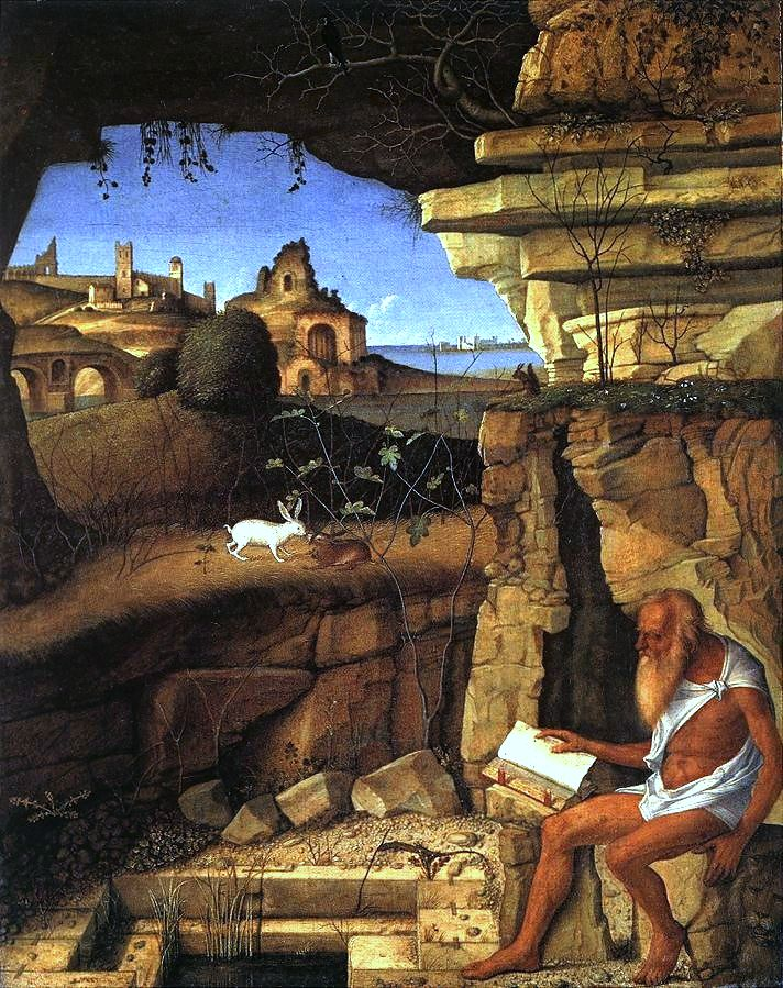 "Giovanni Bellini, ""St. Jerome in the Desert"" (1505, Wikimedia Commons)"