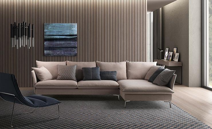 divani con penisola biba salotti