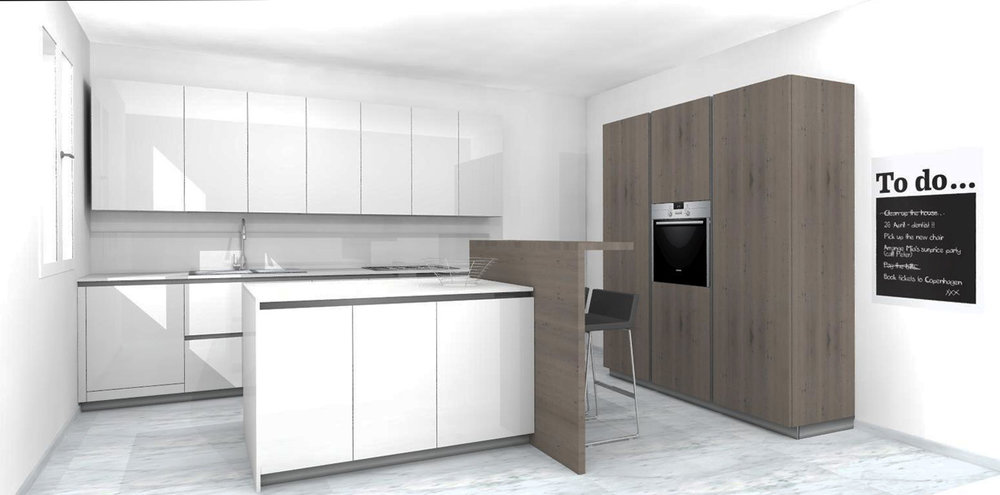 progetto cucina filo antis Modena