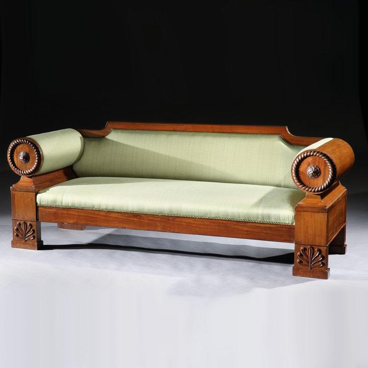 Empire Sofa an empire mahogany sofa tarquin bilgen