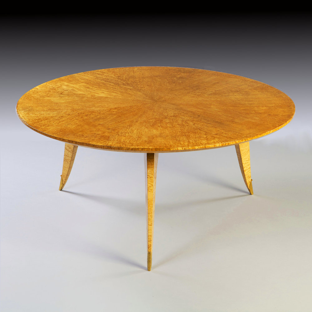 a fine birds eye maple coffee table by jean pascaud tarquin bilgen rh tarquinbilgen com