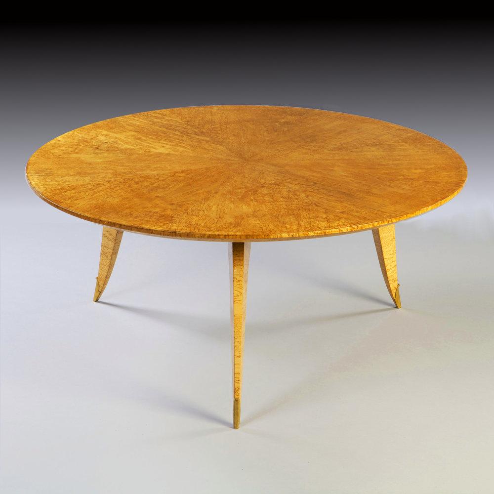 a fine birds eye maple coffee table by jean pascaud tarquin bilgen rh tarquinbilgen com