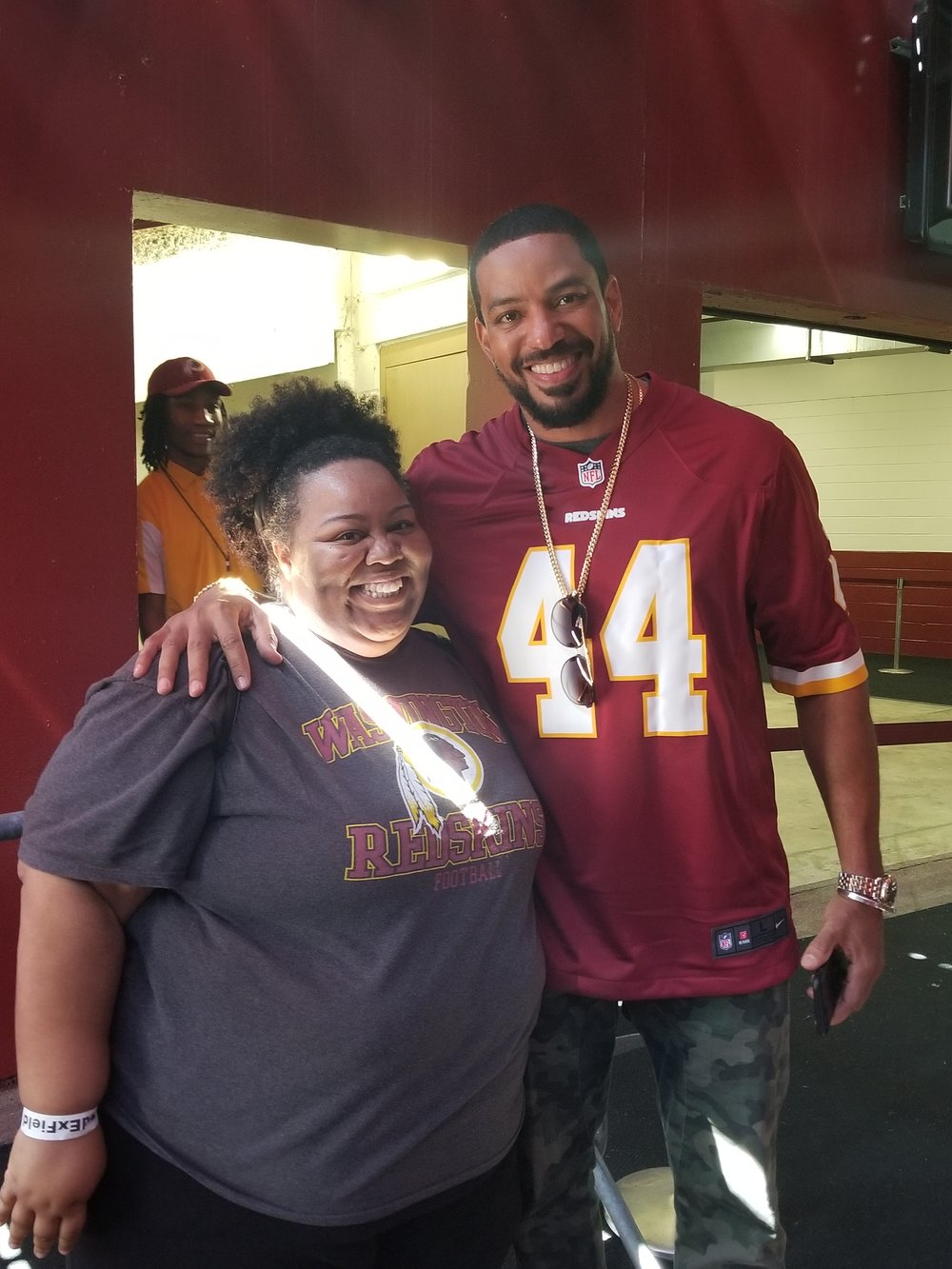 Tamika and actor Laz Alonso
