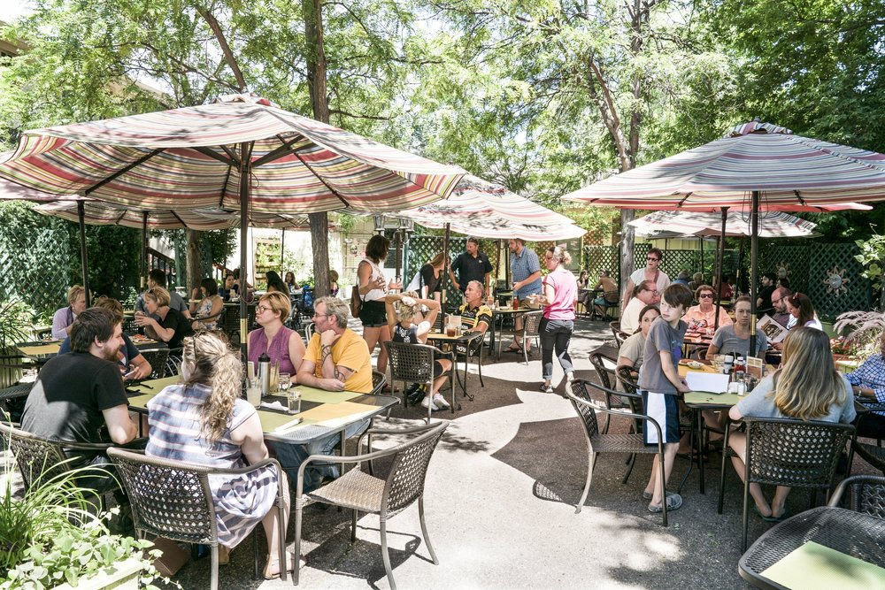 Pictured: Rainbow Restaurant's garden patio