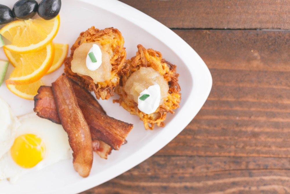 Pictured: Ultimate Latke Breakfast