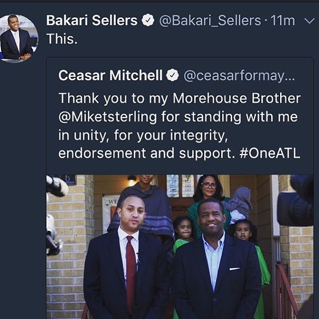 Thank you Brother. I will stand with you always. We are #OneATL Stand with me Atlanta. Let us now rise as one.