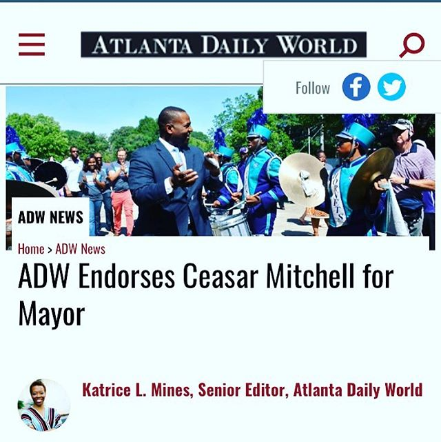 I am humbled and grateful for the endorsement of the Historic Atlanta Daily World. Thank you for all you have done and continue to do in the community. I will stand for you! #OneATL