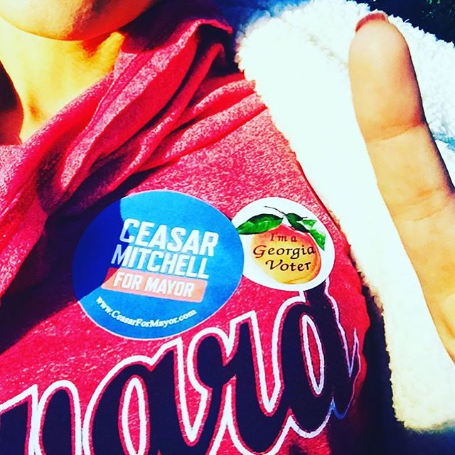 Thank you early voters! It's time to take it to the polls, Atlanta. Let's go! #VoteEarly #ceasarformayor #OneATL #PostThePeach