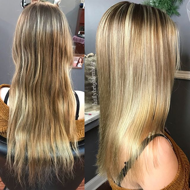 Highlighted and cut to perfection by @hailybrightenhair  #salonagape #downtownstcil #stcharlesil #stcharles #highlights #blonde #alfaparf #alfaparfmilano #alfaparfusa #unitehair #unitehairoftheday
