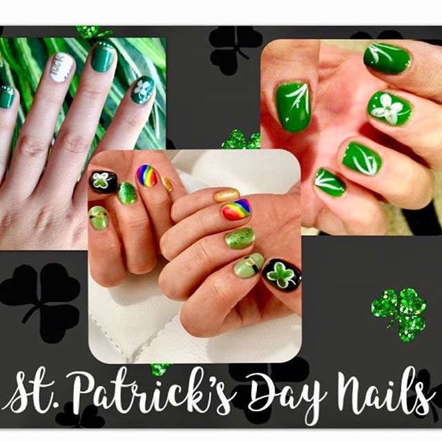 Free nail art with Heather when you schedule a no chip manicure until St. Patrick's Day! #downtownstcil #stcharles #stpatricksday #stcharlesil #salonagape