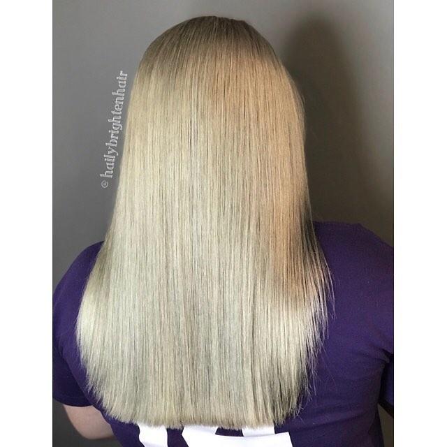 Ash blonde 💙  #alfaparf #alfaparfmilano #alfaparfusa #unitehair #unitehaircare #blonde #ashblonde #downtownstcharles #stcharles #stcharlesil #salonagape