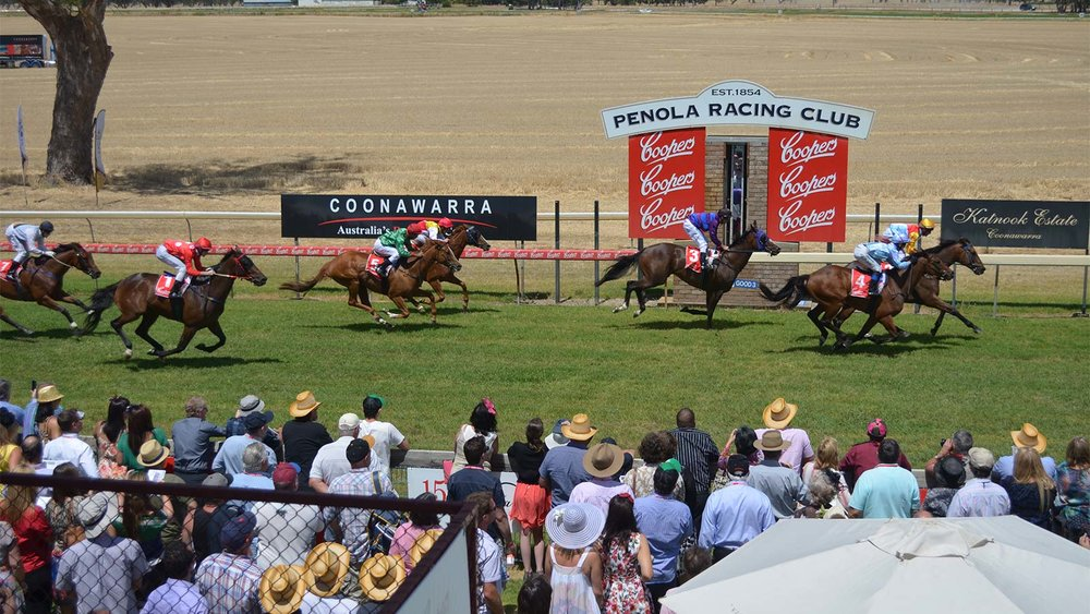 The finishing post at Penola Racing Club