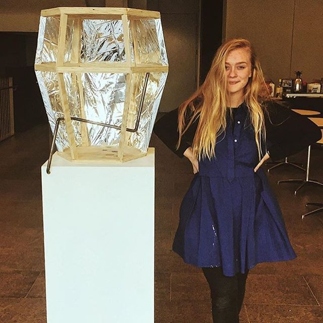 "Repost from @emmzpreston. ""My hexagonal prism-esque monument to alternative facts officially entitled ""~the rectangle"" 