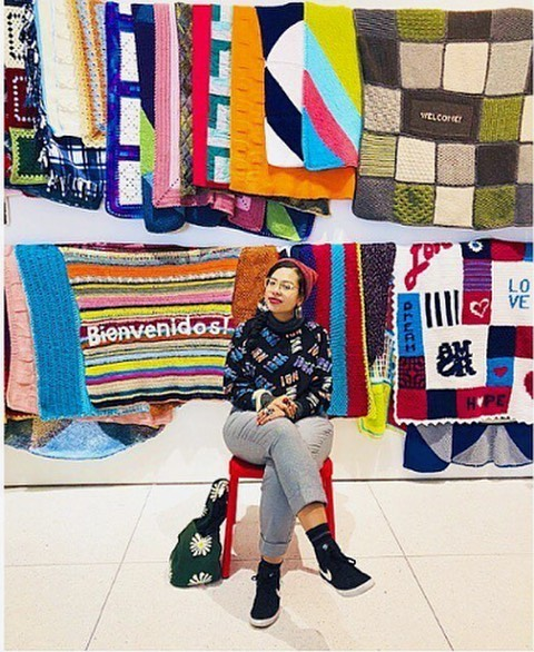 "Reposted from @MuseumCampusSouth: ""Blankets that'll be distributed to new immigrants. Photo and caption by @churro_bouquet @smartmuseum . . #SmartMuseum #7museums1mile #MyChicagoPix #museum #explorechicago #igerschicago #Insta_Chicago #ChicagoMuseum  #welcomeblanket"