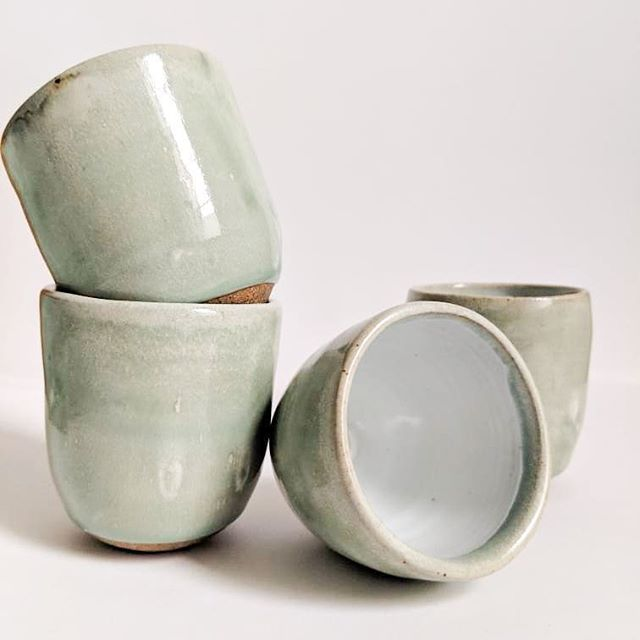 These are perfect for wine and what else is there to really say? . . . . . #ceramics #sundaybrunchpottery #craft #shoplocal #bostonmakers #maker #potter #pottery #style #decor #anthropologie #housewares #kinfolk #craft #livefolk #handmade #instamaker #madebyhand #kinfolkhome #creative #instacraft #makersgonnamake #shopsmall #liveauthentic #smallbusiness #shophandmade #etsy #homedecor #slowliving