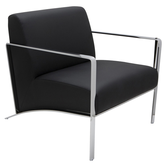 RISA  - Top grain leather, polished stainless steel frame armrest height: 23