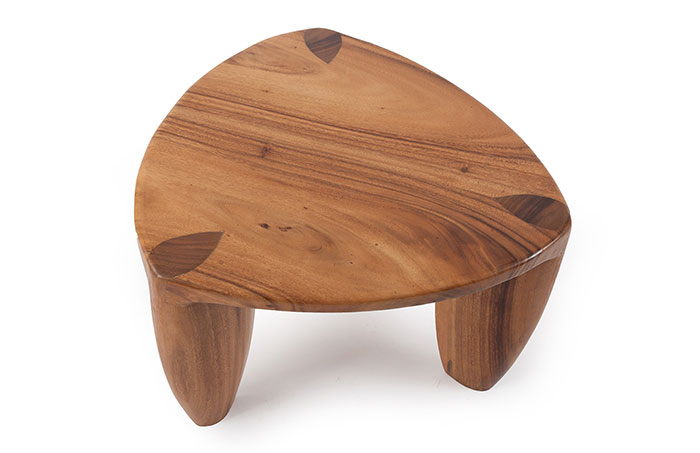 Reuleaux Coffee Table - Triangle Coffee Table, perfect for small spaces. Mango wood.24 X 24 X 16
