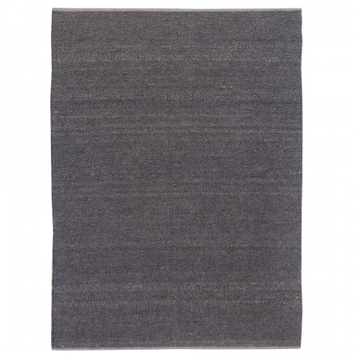 Earthtone Rug - Handwoven - Polyester & cotton - Dark greyThree sizes: 6' x 8' / 8' x 10' / 9' x 12'