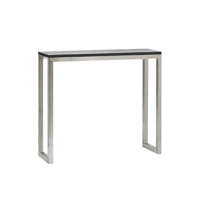 Carlton Console Table - Marble top and stainless steel base. Option of colors of Marble. Two sizes available:33