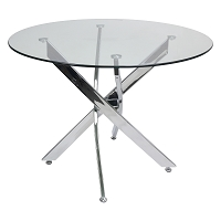 Genesis Dining Table - Tempered Glass Top and Stainless Steel Base.39