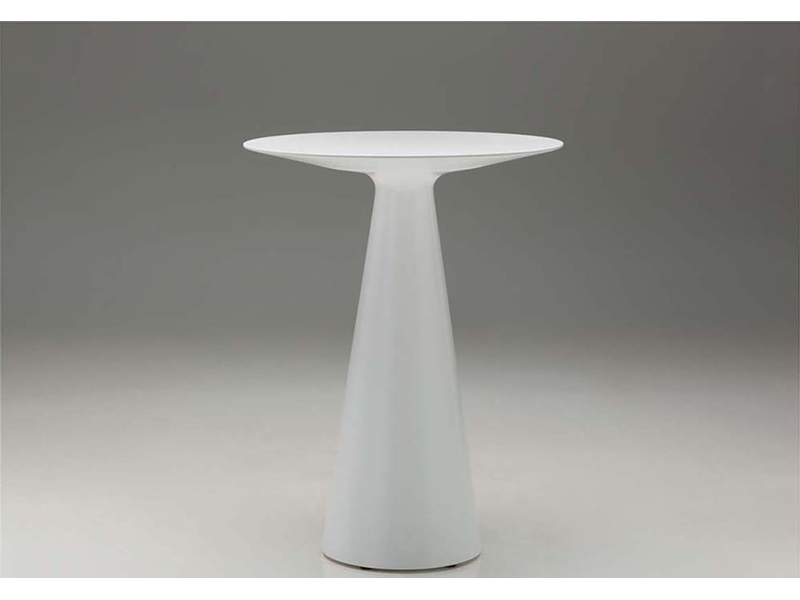 Malvides Bar Table -  Constructed with a high tech seamless Solid Surface top simliar to that used in kitchen counter construction. The tables come standard with levelling feet for uneven surfaces. The top is cosmetically renewable and is resistant to stains, mould, bacteria and even fire. 31