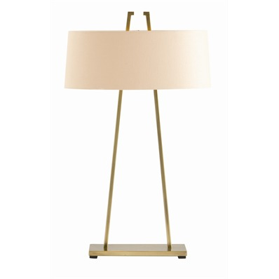 Dalton Table Lamp - If you watch The Good Wife you might recognize this lamp, set on an entry table under the firm's sign. The clean lines and double sockets make this antique brass lamp appropriate for night stands, desks, side tables or buffets. One of our best sellers.