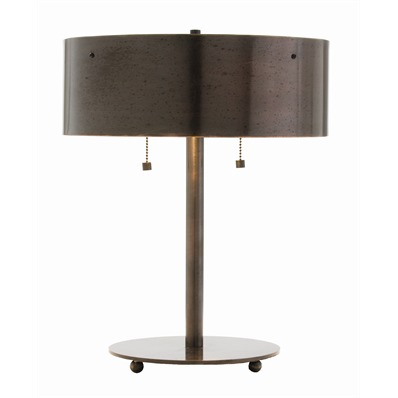 Albert Lamp - English bronze lamp, double socket. Perfect for a desk or night table.