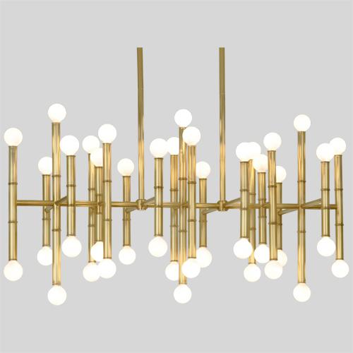 Meurice Pendant - Jonathan Adler Pendant, holds42 bulbs of 25W max. 38
