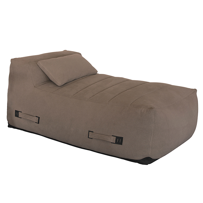 Cumulus Day Bed - Available in ultra suede in sand and brown as shown. size 63 x 38 x 27½
