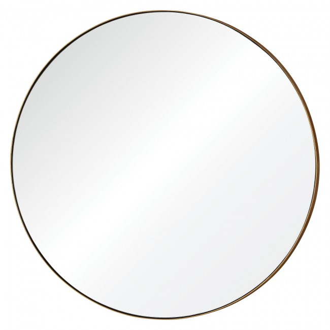 Orix Mirror - Gold leaf finish on metal clean line to fit any style.29.5