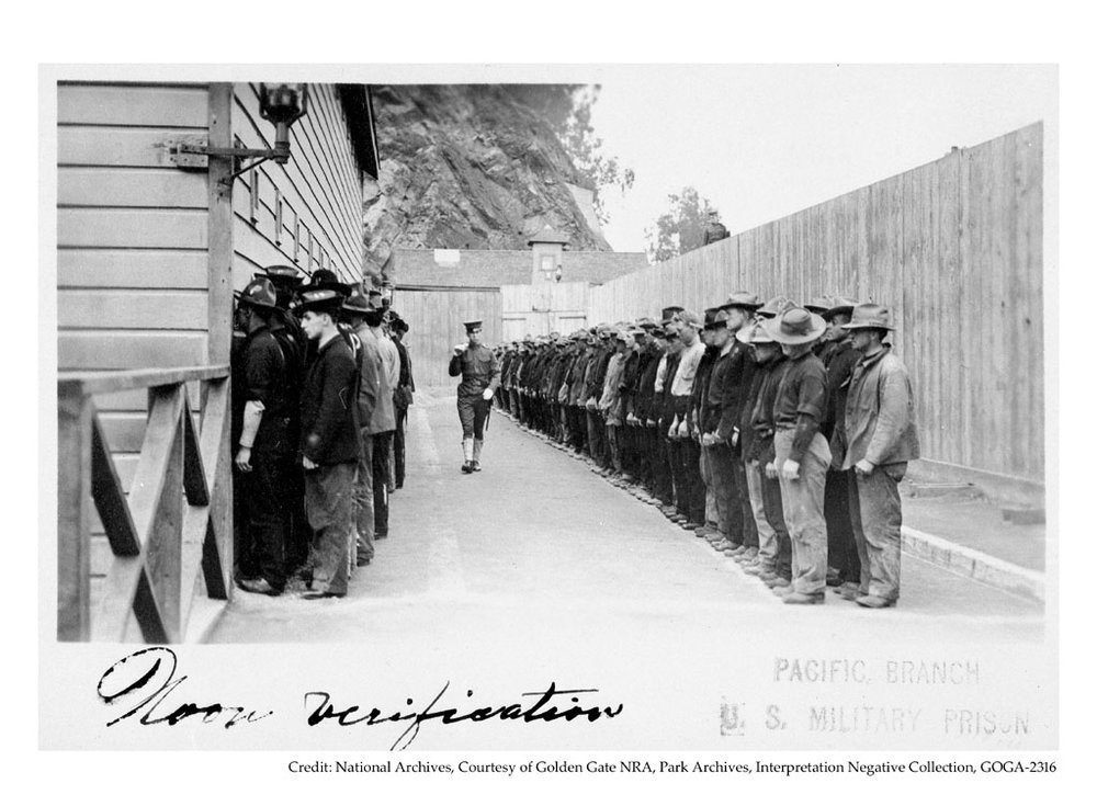 Military Prisoners in Stockade, c.1902