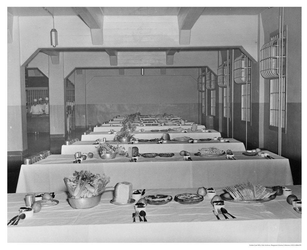Alcatraz Prison inmate dining hall