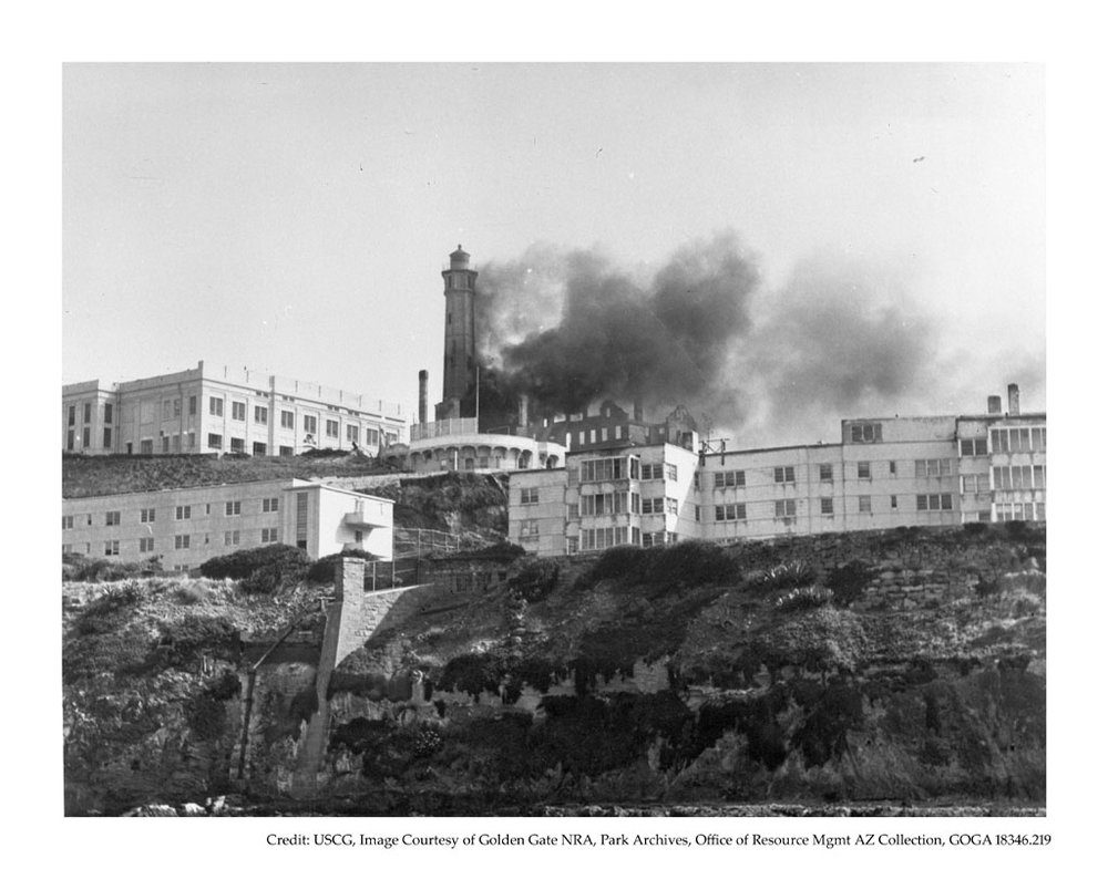 Fire at the lighthouse, May 4, 1970