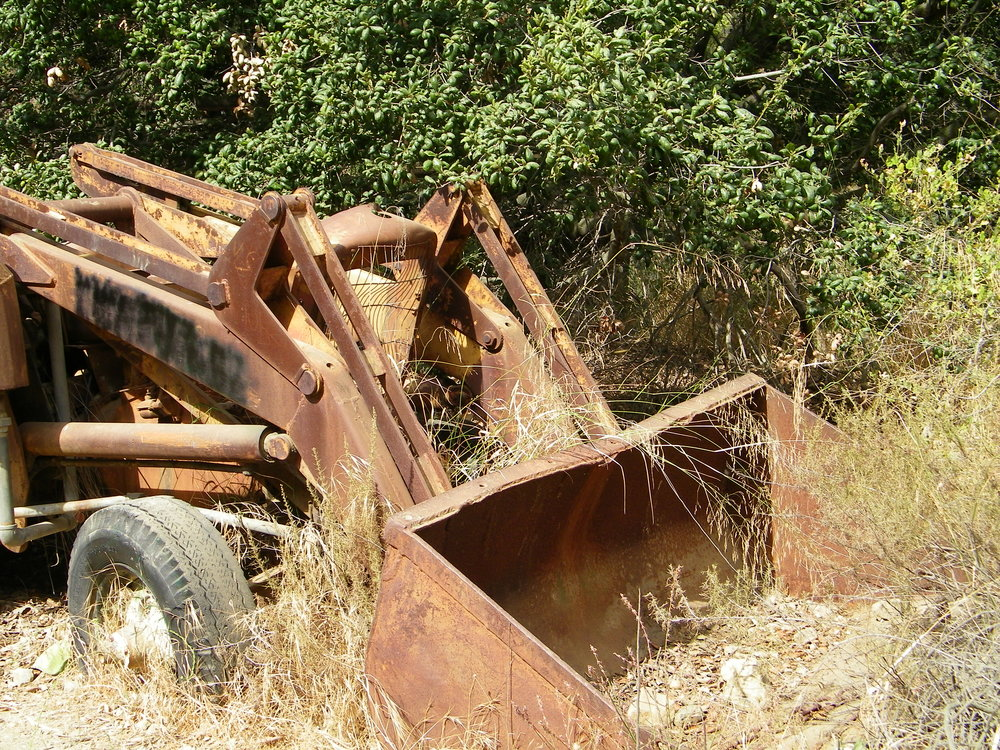 Rusted machinery, from my personal photos