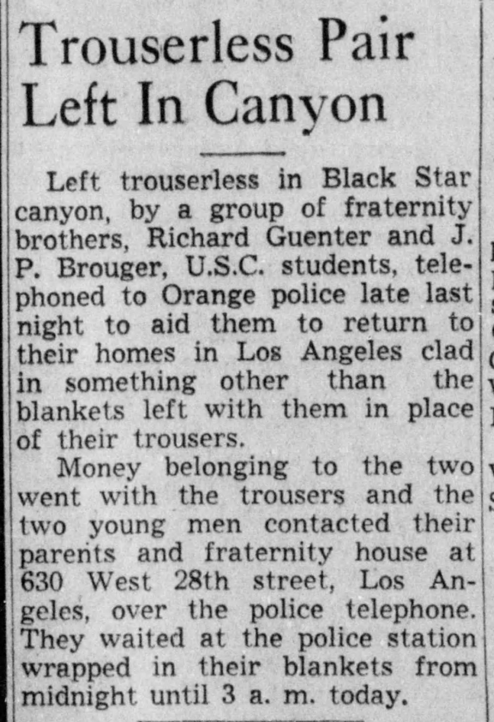 From Santa Ana Register, 1940
