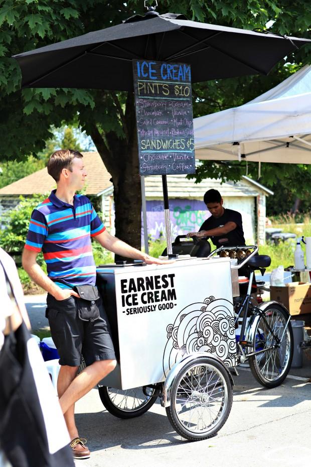 Vancouver Farmers Market Earnest Ice Cream