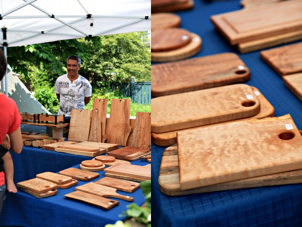 Vancouver Farmers Market chopping boards