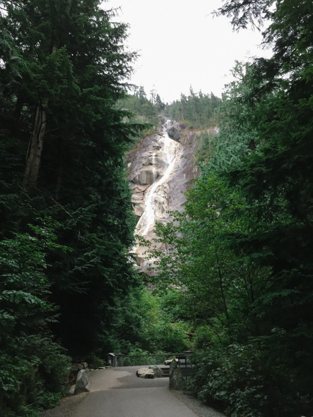 The beautiful Shannon Falls